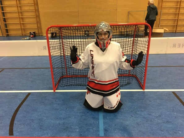 Goalie, Torwart beim Floorball